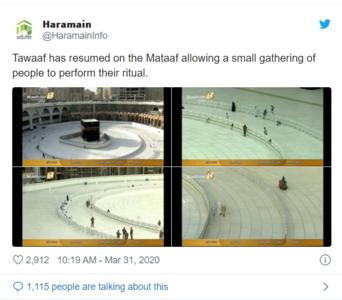 Tawaaf Resumes at the Holy Kaaba