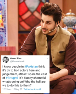 Ahsan Khan urges people to spare the cast of Dirilis Ertugrul!