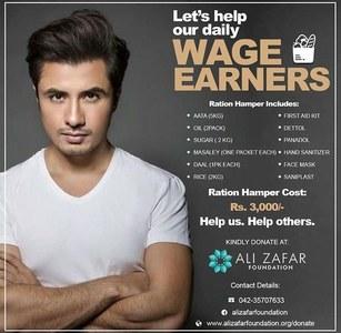 Ali Zafar Foundation Focuses On Distribution Amongst Minorities