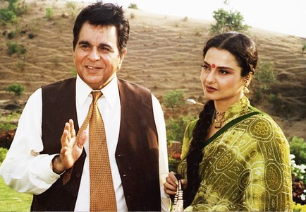 Dilip Kumar and Rekha Jee