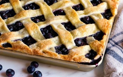 Blueberry Lattice Bars!