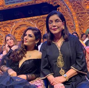 Raveena Tandon with Zeenat Aman