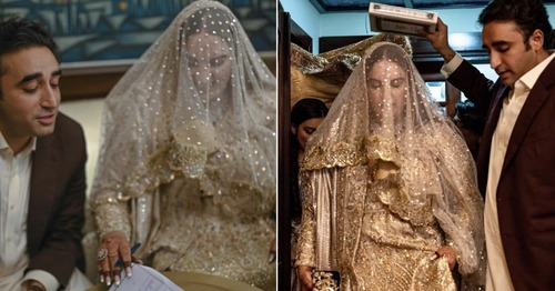 Bakhtawar Bhutto-Zardari Dazzled in Wardha Saleem for her Nikkah!