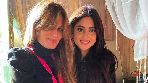 Sajal Aly Spotted On Set With Jemima Goldsmith