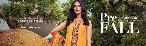 GulAhmed Cambric Collection  Is Filled With Colors Of The Season