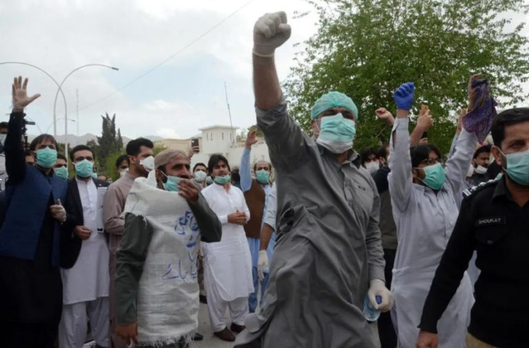 Pakistani Doctors Protesting For Lack Of Protective Gear Arrested