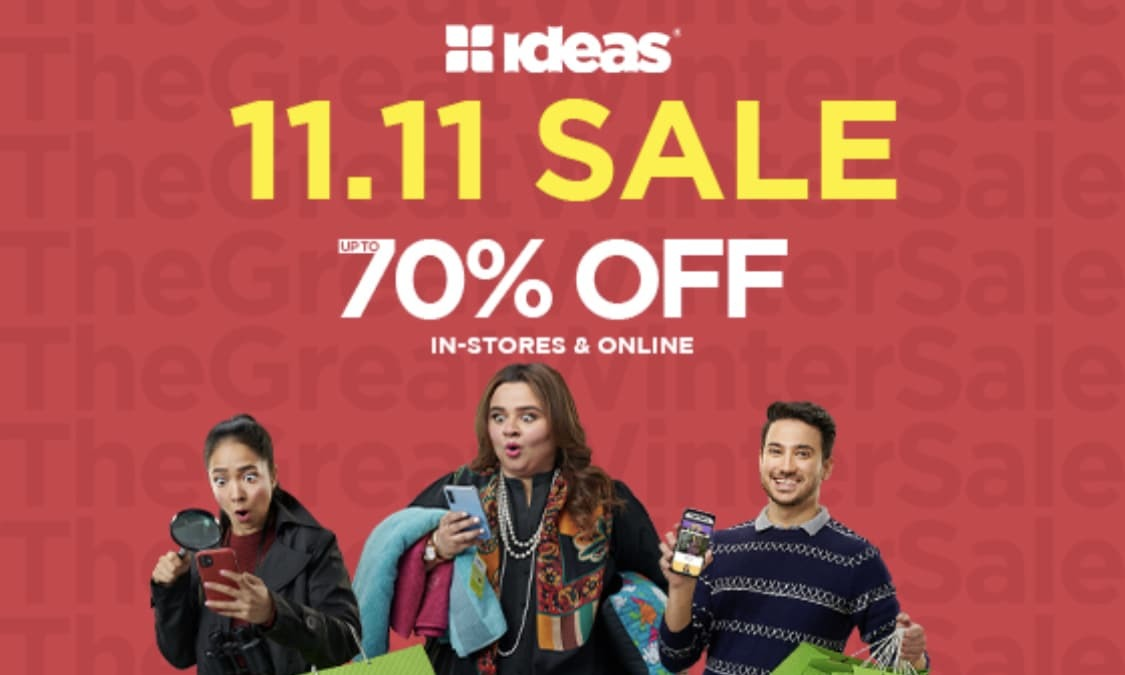 Pakistan's Biggest Fashion Sale: 11.11 Sale by GulAhmed Ideas