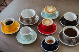 Around the world in coffee cups