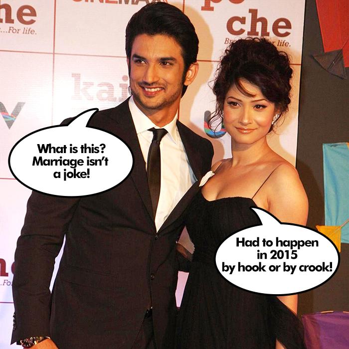 Sushant Singh and Ankita Lokhande meme