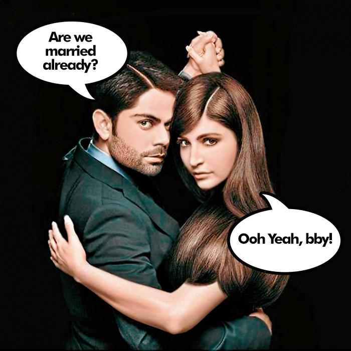 Virat Kohli and Anushka Sharma meme