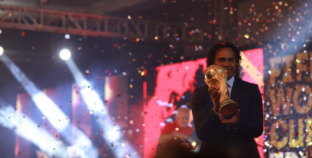 Glittering FIFA trophy unveiled in Lahore